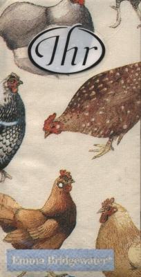 Taschentücher Hens,  Tiere,  Everyday,  bedruckte papiertaschentücher,  Hühner