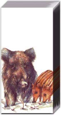 Taschentücher STUDIES OF WILD BOARS,  Tiere,  Everyday,  bedruckte papiertaschentücher,  Wildschwein
