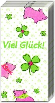 Taschentücher / Firmen,  Tiere,  Everyday,  bedruckte papiertaschentücher,  Glück,  Schweine