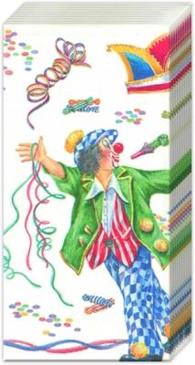 Dekorkerzen - rund - groß,  Ereignisse,  Everyday,  bedruckte papiertaschentücher,  Clown