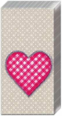 Taschentücher LOVELY DOTTY linen red,  Sonstiges,  Everyday,  bedruckte papiertaschentücher,  Herz,  Punkte
