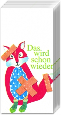 Taschentücher DAS WIRD SCHON WIEDER,  Tiere,  Everyday,  bedruckte papiertaschentücher,  Fuchs