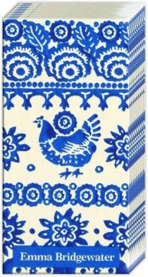 Taschentücher / Firmen,  Tiere,  Everyday,  bedruckte papiertaschentücher,  Huhn,  blau