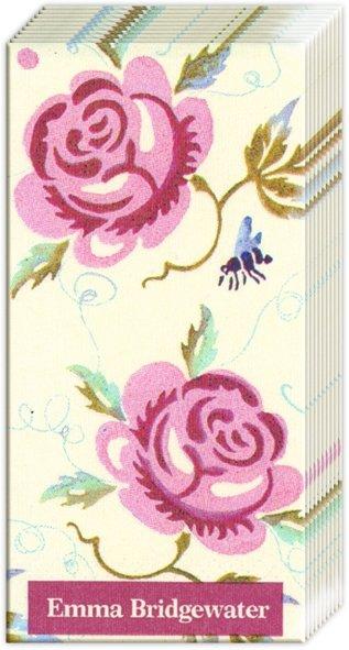 Taschentücher Rose and Bee,  Blumen,  Everyday,  bedruckte papiertaschentücher,  Rosen