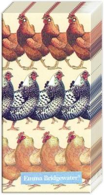 Taschentücher Hens,  Tiere,  Everyday,  bedruckte papiertaschentücher,  Huhn