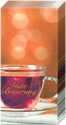 Taschentücher Gesamtübersicht,  Getränke,  Everyday,  bedruckte papiertaschentücher,  Tee,  Schriften