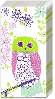 Taschentücher JOLLY OWLS light green