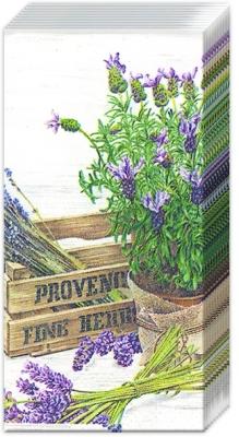 Windlichter / Kerzen,  Blumen,  Everyday,  bedruckte papiertaschentücher,  Lavendel