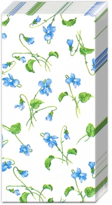 Taschentücher VIOLA RIVINIANA white,  Blumen,  Everyday,  bedruckte papiertaschentücher