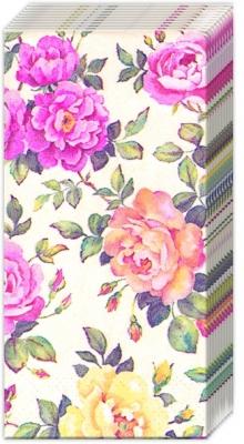 Taschentücher ROSERY cream,  Blumen,  Everyday,  bedruckte papiertaschentücher,  Rosen