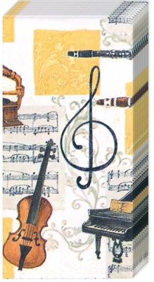 Everyday,  Sonstiges,  Everyday,  bedruckte papiertaschentücher,  Musik,  Instrumente,  Klavier ,  Geige