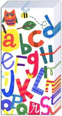 Taschentücher ALPHABET,  Ereignisse,  Everyday,  bedruckte papiertaschentücher,  Einschulung,  Buchstaben