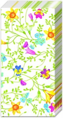 Taschentücher PRETTY IN SPRING,  Blumen,  Frühjahr,  bedruckte papiertaschentücher,  Blumen