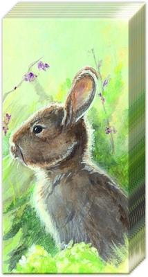 Servietten Frühjahr,  Tiere,  Everyday,  bedruckte papiertaschentücher,  Hasen