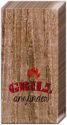 Taschentücher GRILLED HOT,  Sommer,  Everyday,  bedruckte papiertaschentücher,  Barbecue