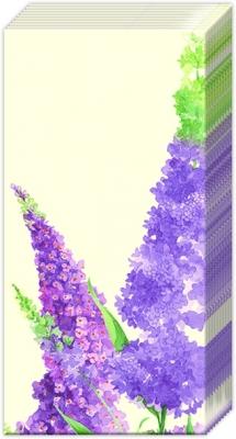 Taschentücher BUDDLEIA cream,  Blumen,  Everyday,  bedruckte papiertaschentücher,  Flieder