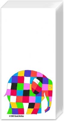 Taschentücher ELMER white,  Tiere,  Everyday,  bedruckte papiertaschentücher,  Elefant