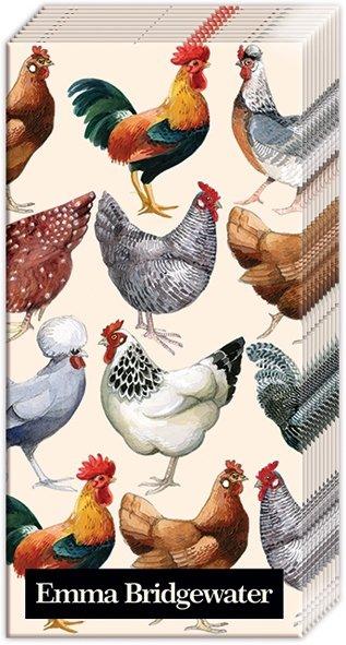 Emma Bridgewater,  Tiere,  Everyday,  bedruckte papiertaschentücher,  Huhn,  Hahn