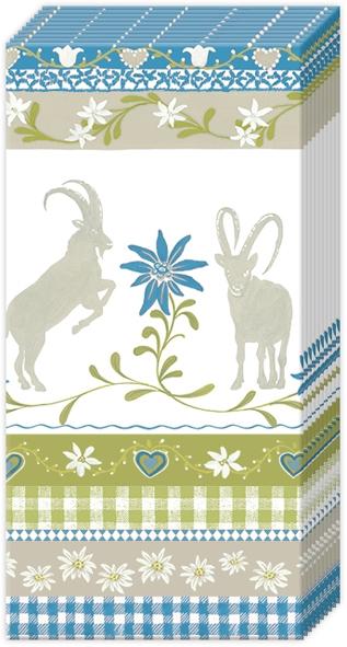 Taschentücher - MOUNTAIN CHARM blau