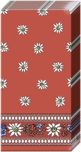 Everyday,  Blumen,  Everyday,  bedruckte papiertaschentücher,  Edelweiß,  rot