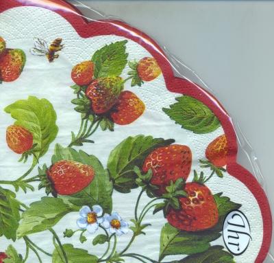 Servietten nach Jahreszeiten, servietten,  Erdbeeren