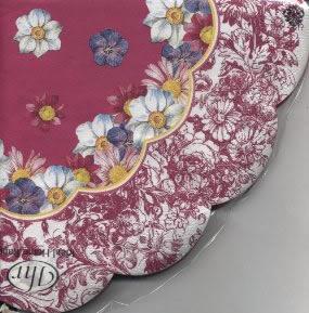 Servietten - Rund A LA MODE pink                          , servietten,  Blumen