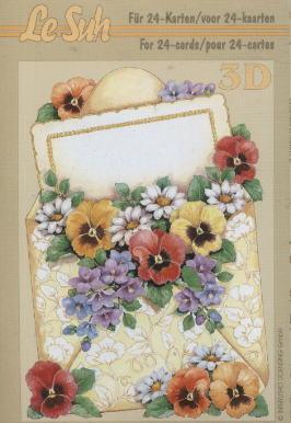 3D Bogen / Firmen,  Blumen - Stiefmütterchen,  Le Suh,  3D Bogen,  Blumen