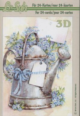 3D Bogen / Firmen,  Blumen -  Sonstige,  Le Suh,  3D Bogen,  Gießkanne,  Blumen
