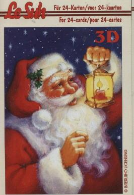 3D Bogen Buch Weihnachtsmann - Format A6,  Weihnachten - Weihnachtsmann,  Le Suh,  3D Bogen,  Weihnachtsmann,  Laterne