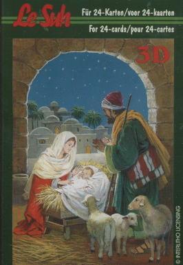 3D Bogen / Le Suh 333-....., Tiere - Schafe,  Menschen - Personen,  Le Suh,  3D Bogen,  Schafe,  Jesus,  Maria und Josef,  Krippe