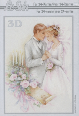 3D Bogen Buch Hochzeit - Format A6