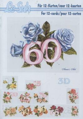 3D Bogen / Le Suh 345-.....,  Ereignisse - Geburtstag,  Le Suh,  3D Bogen,  Zahlen,  Geburtstag