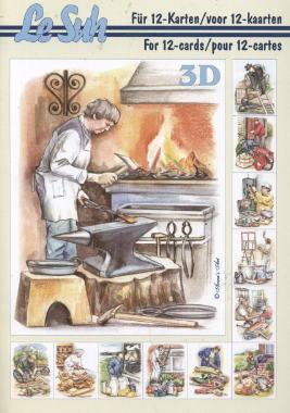 3D Bogen Buch Berufe - Format A5,  Sonstiges -  Sonstiges,  Le Suh,  3D Bogen,  Beruf