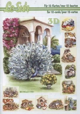3D Bogen / Tiere,  Tiere -  Sonstige,  Le Suh,  3D Bogen,  Maus,  Pfau,  Hunde,  Pute