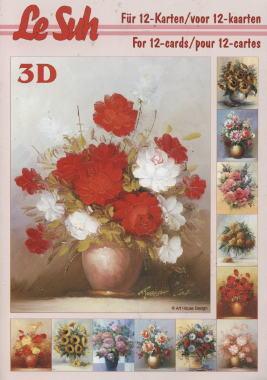 3D Bogen / Bücher - DIN A 5,  Blumen -  Sonstige,  Le Suh,  3D Bogen,  Blumen