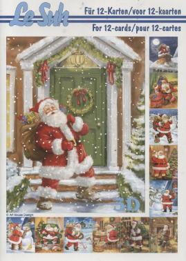 3D Bogen / Weinhachten,  Weihnachten - Weihnachtsmann,  3D Bogen,  Weihnachtsmann