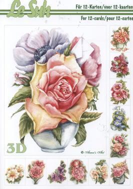 3D Bogen Buch Blumen - Format A5,  Blumen -  Sonstige,  3D Bogen,  Rosen