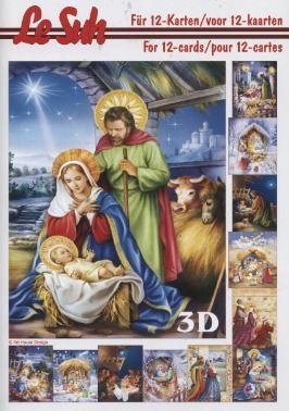 3D Bogen Buch Weihnachtskrippe - Format A5,  Menschen - Personen,  3D Bogen,  Maria und Josef,  Krippe,  Jesus