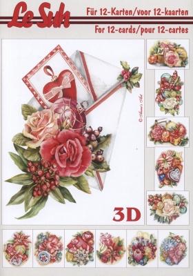 3D Bogen Buch Weihnachten Format A5,  Blumen,  3D Bogen,  Blumen