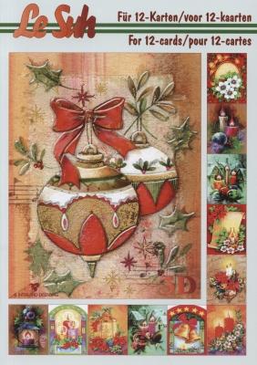 3D Bogen Buch Weihnachtsstimmung - Format A5,  Weihnachten - Kerzen,  Le Suh,  3D Bogen,  Weihnachtsstimmung,  Weihnachtskugeln,  Weihnachtsglocken