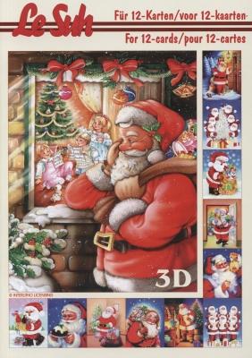 3D Bogen Buch Weihnachtsmann - Format A5,  Winter - Schnee,  Le Suh,  3D Bogen,  Weihnachtsmann