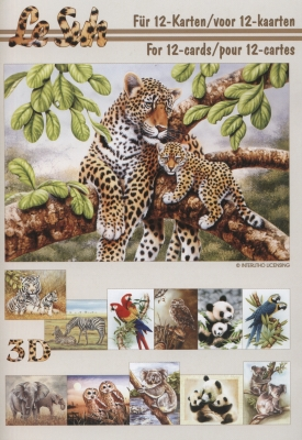 3D Bogen Buch Tiere - Format A5,  Tiere -  Sonstige,  Le Suh,  3D Bogen,  Tiere,  Zebra,  Eulen,  Koalerbär,  Vögel,  Papagei,  Elefanten
