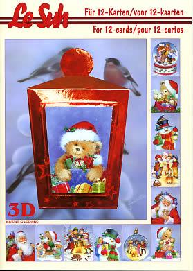 3D Bogen Buch Weihnachtsfiguren - Format A5,  Winter,  Le Suh,  3D Bogen,  Weihnachtsfiguren,  Schneemann,  Weihnachtsmann
