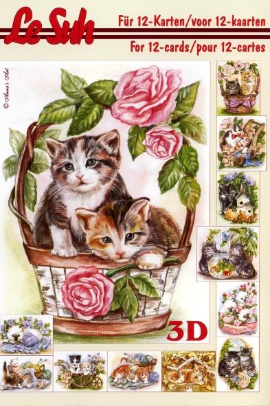 3D Bogen Buch Katzen - Format A5,  Tiere -  Sonstige,  Le Suh,  3D Bogen,  Rosen