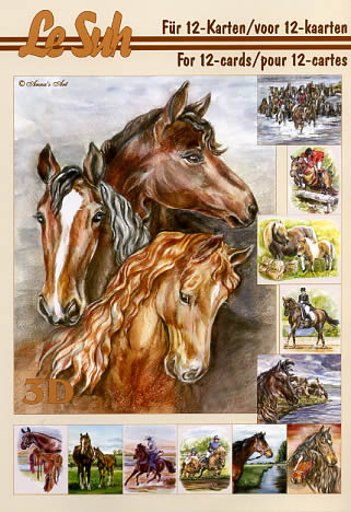 3D Bogen Buch Pferde - Format A5,  Sport - Reiten,  Le Suh,  3D Bogen,  Pferde