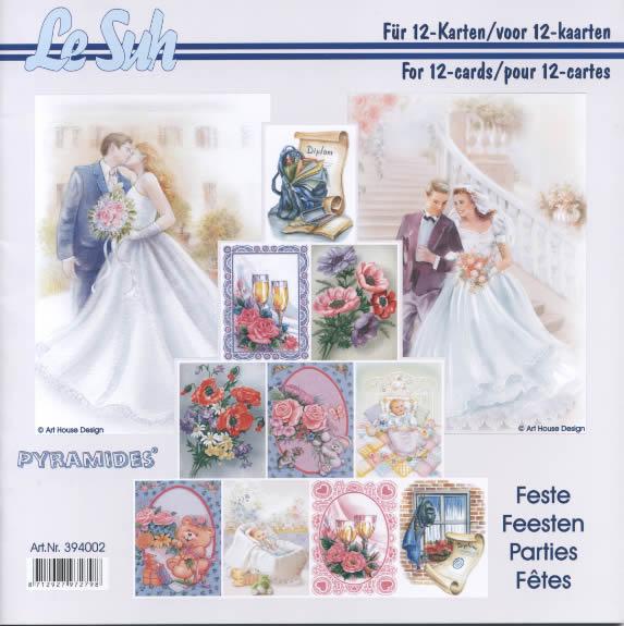 3D Bogen Buch Pyramides: Feste - 21 x 21 cm, Blumen - Rosen,  Menschen - Personen,  Ereignisse - Hochzeit,  3D Bogen,  Rosen,  Geburt,  Wein