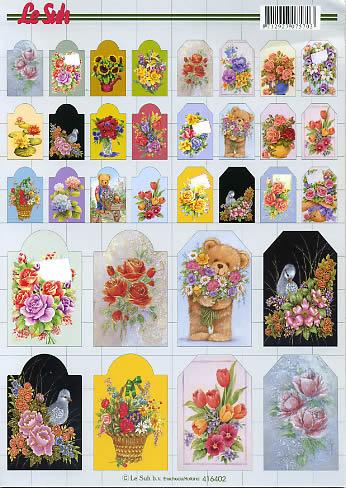 3D Bogen Blumen - Format A4,  3D Bogen,  blumen,  bären