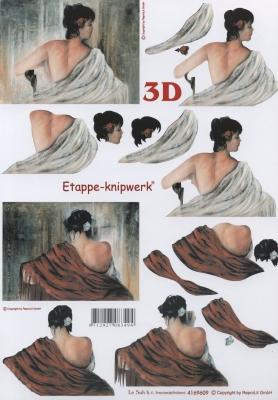 3D Bogen nach Motiven,  Menschen - Personen,  Le Suh,  3D Bogen,  Frau