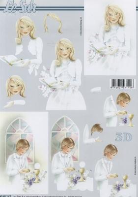 3D Bogen Kommunion - Format A4,  Menschen - Personen,  Ereignisse - Kommunion,  3D Bogen,  Kinder