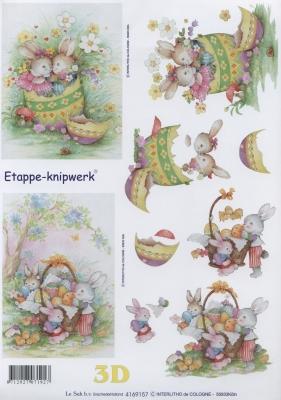 3D Bogen Format A4 Osterhasen